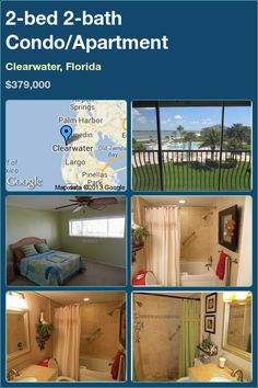 2-bed 2-bath Condo/Apartment in Clearwater, Florida ►$379,000 #PropertyForSale #RealEstate #Florida http://florida-magic.com/properties/2069-condo-apartment-for-sale-in-clearwater-florida-with-2-bedroom-2-bathroom