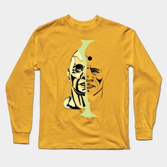 face of man - Face Illustration - Long Sleeve T-Shirt Face Illustration, Male Face, Shirt Designs, Sweatshirts, Long Sleeve, Sweaters, Mens Tops, T Shirt, Shopping