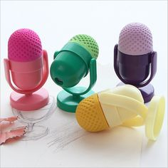 Cute Kawaii Rubber Eraser Creative Microphone Erasers With Sharpener For Kids Gift School Supplies Free Shipping 2711