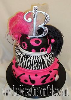 fun pink zebra cake