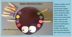 Child Care Basics Resource Blog: Spider Matching Colors