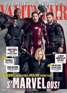 AVENGERS: INFINITY WAR Vanity Fair Covers, Photos, and The Directors Tease Trailer Release