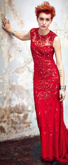 Red holiday maxi dress - What's you're fashion style & why you should want to know: http://www.boomerinas.com/2013/07/03/what-is-your-fashion-style-preppy-classic-or-boho/