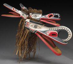 A Northwest Coast raven mask, Ivan Otterlifter