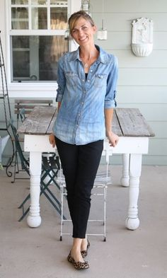 Love this classic- everyday look! From The Pleated Poppy blog- love her style!