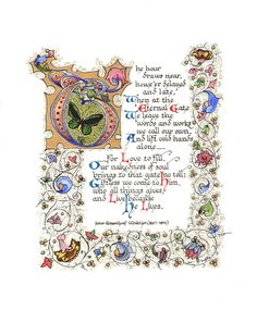 Artículos similares a Because He Lives - Hand Tipped Premium Limited Edition Illuminated Calligraphy Artist Print en Etsy Calligraphy Artist, Beautiful Calligraphy, Calligraphy Letters, Caligraphy, Medieval Books, Medieval Art, Illuminated Letters, Illuminated Manuscript, Creative Lettering