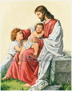 Detail Christ Blessing the Children Kingdom Of Heaven, The Kingdom Of God, Bless The Child, Artists For Kids, Buy Prints, Christmas Angels, Blessing, Detail, Children
