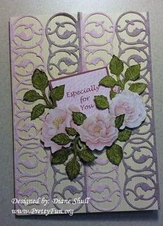 Birthday card designed by Diane Shull using Anna Griffin dies and embellishments.