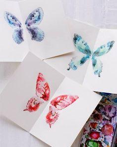 Bri-coco de Lolo: Papillon d'aquarelle sur petites cartes