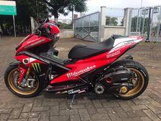 Aerox 155 Yamaha, Yamaha Nmax, Yamaha Motorcycles, Custom Motorcycles, Cars And Motorcycles, Yamaha Scooter, Scooter Motorcycle, Custom Street Bikes, Custom Bikes