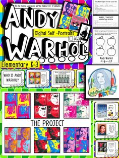 Great resource for using the iPad in the art room! Andy Warhol for younger artist!