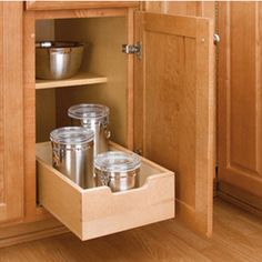 Small Wood Pull-Out Drawer, Wood - Maple (4WDB-12)