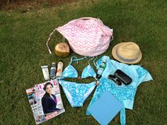 Melissa Hawks' Beach Bag    http://blog.wellappointedhouse.com/2012/07/whats-in-your-beach-bag.html