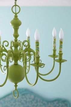 Spray paint an old light fixture for a new look!! I am so trying to find an old light fixture to redo like this!!