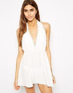 Oh My Love Pom Pom Beach Dress