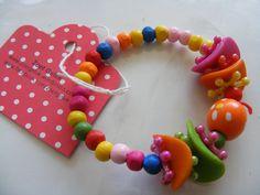 Leuk armbandje - vrolijke kleurtjes - Zoet Geluk  #bracelet #kids #colours #armbandje