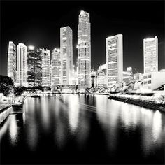 Breathtaking black and white shots of cityscapes -- Singapore 2010