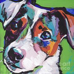 Pets Paintings - Jack out of the Box  by Lea