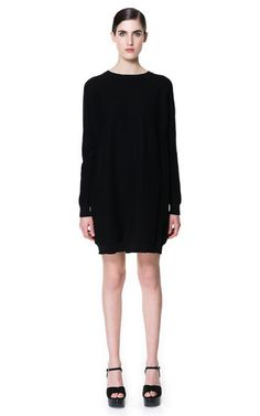 on sale Image 1 of KNITTED DRESS WITH SEAMS from Zara