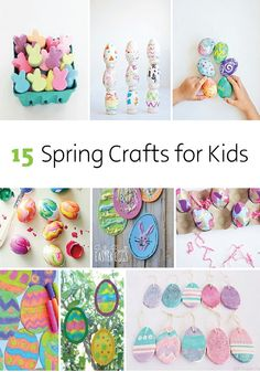 15 Spring Crafts for Kids   Break out the Bounty Paper Towels, paint, glitter, Mod Podge and other fun craft supplies for these colorful crafts the kids will enjoy.