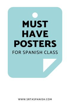 Check out ideas for Spanish classroom decor in elementary, middle, Spanish Classroom Decor, Classroom Displays, Spanish 1, Spanish Words, Middle School Spanish, Traveling Teacher, Word Poster, Spanish Lesson Plans, Classroom Routines
