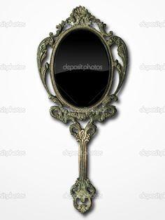 vintage bronze hand mirror fancy t22 mirror