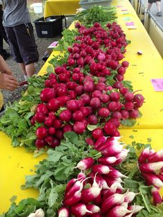 Radishes at the Liberty Lake Farmers Market