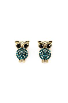 Crystal Owl Earrings | Emma Stine Jewelry Earrings  via Shopmine, get product recommendations based on people you follow!