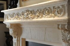 marble carved mantle