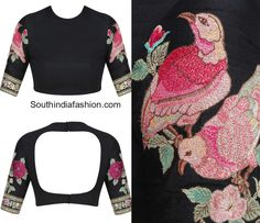 Bird Embroidered Blouse Designs