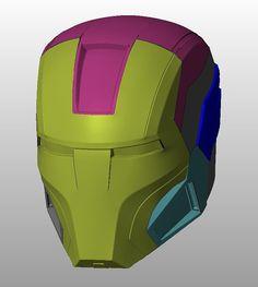 16 marca casco 3D imprimibles