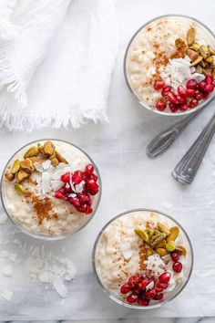 Almond Milk Rice Pudding Oats Recipes, Vegan Dessert Recipes, Milk Recipes, Gluten Free Desserts, Healthy Desserts, Healthy Meals, Paleo Recipes, Free Recipes, Baking Recipes