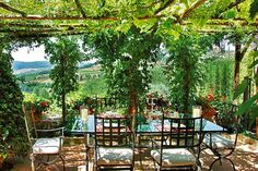 patio decor in black and white | ... under grape vines, patio designs, outdoor rooms decorating ideas