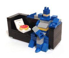 Angus Maclane's LEGO Sculpture Series Shows Reclining Superheroes #superhero #decor trendhunter.com