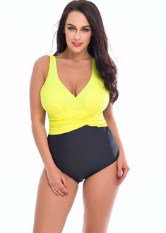 c62e48d3334 yellow black swimsuit One Piece Swimsuit 2017