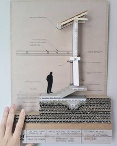 Detailed construction section By - Architecture Ideas Maquette Architecture, Detail Architecture, Architecture Student, Concept Architecture, Architecture Models, Sections Architecture, Tectonic Architecture, Drawing Architecture, Architecture Diagrams