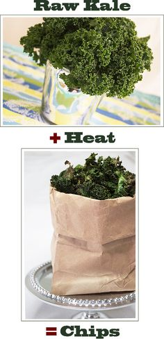 Crispy baked organic Kale chips. I made these tonight, OMG so good!   Wash and dry Kale, remove from stems and tear into bite sized pieces. Season with Sea salt or a no salt seasoning. Bake at 350 until golden brown. I used Mrs Dash original.