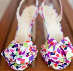 Lovely wedding shoes (a favourite repin of VIP Fashion Australia www.vipfashionaustralia.com - Specialising in unique fashion, exclusive fashion, online shopping sites for clothes, online shopping of clothes, international clothing store, international clothes shop, cute dresses for cheap, trendy clothing stores, luxury purses ) Love the colors!