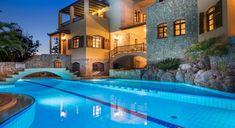 Iason Mansion - Authentic Crete, Villas in Crete, Holiday Specialists Luxurious Bedrooms, Luxury Villa, Crete, Mansions, House Styles, Villas, Luxury Bedrooms, Luxury Condo, Fancy Houses