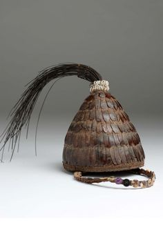 Africa | Hat / headgear from the Lega people of DR Congo | Vegetal fiber…