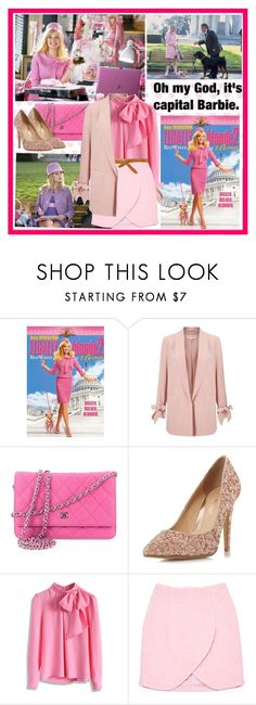 """""""Oh my god, it's capital Barbie!! """" by fashionistajane1 ❤ liked on Polyvore featuring Miss Selfridge, Chanel, Head Over Heels by Dune, Chicwish, Carven and Isabel Marant"""