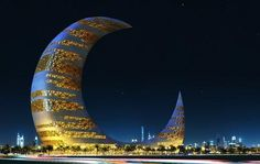 Crescent Moon Tower, Dubai - Photography by Santosh Baruwal at touchtalent