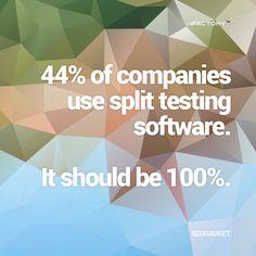 of companies use split testing software It should be Mobile Application, App Development, Statistics, Brisbane, Ecommerce, Landing, Digital Marketing, Budgeting, Software