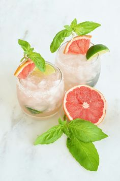 cool Grapefruit Basil Palomas - and Three More Sparkling Cocktails and Mocktails | Sp...
