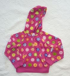 Gymboree CANDY SHOPPE Pink Fuchsia Hoodie Jacket Fleece Girls size 6 NWT #Gymboree #Everyday
