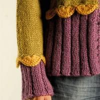 Blend two sweaters, crochet the seams...