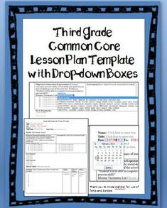 Eighth Grade Common Core Lesson Plan Template with drop-down boxes. You can even customize the lesson plan format! All grade levels available Also contains drop down boxes for the special CCSS Science for middle school Common Core Standards, Common Core Math, Science Standards, The Plan, How To Plan, Student Learning Objectives, Student Teaching, Teaching Ideas, Teaching Tools