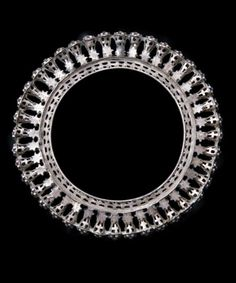 India   Silver guard bangle from Rajasthan   ca. mid 1900s   Painstakingly created from stamped and perforated sheet silver by a skilled desert craftsmen they have been worn by colourful Rajasthani women since time immemorial.   320£