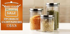 glass-storage-containers Kitchen Storage Containers, Cooking, Food, Kitchen, Essen, Meals, Yemek, Brewing, Cuisine
