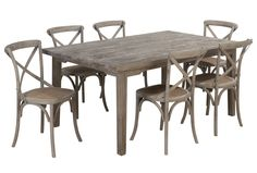 Bayfield 7 Piece Rectangle Dining Set W/Wood Side Chairs - Signature